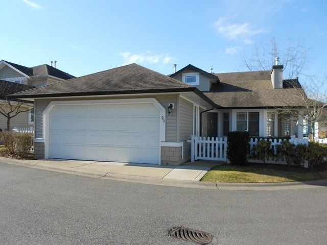 """Main Photo: 20 6488 168TH Street in Surrey: Cloverdale BC Townhouse for sale in """"TURNBERRY"""" (Cloverdale)  : MLS®# F1403317"""