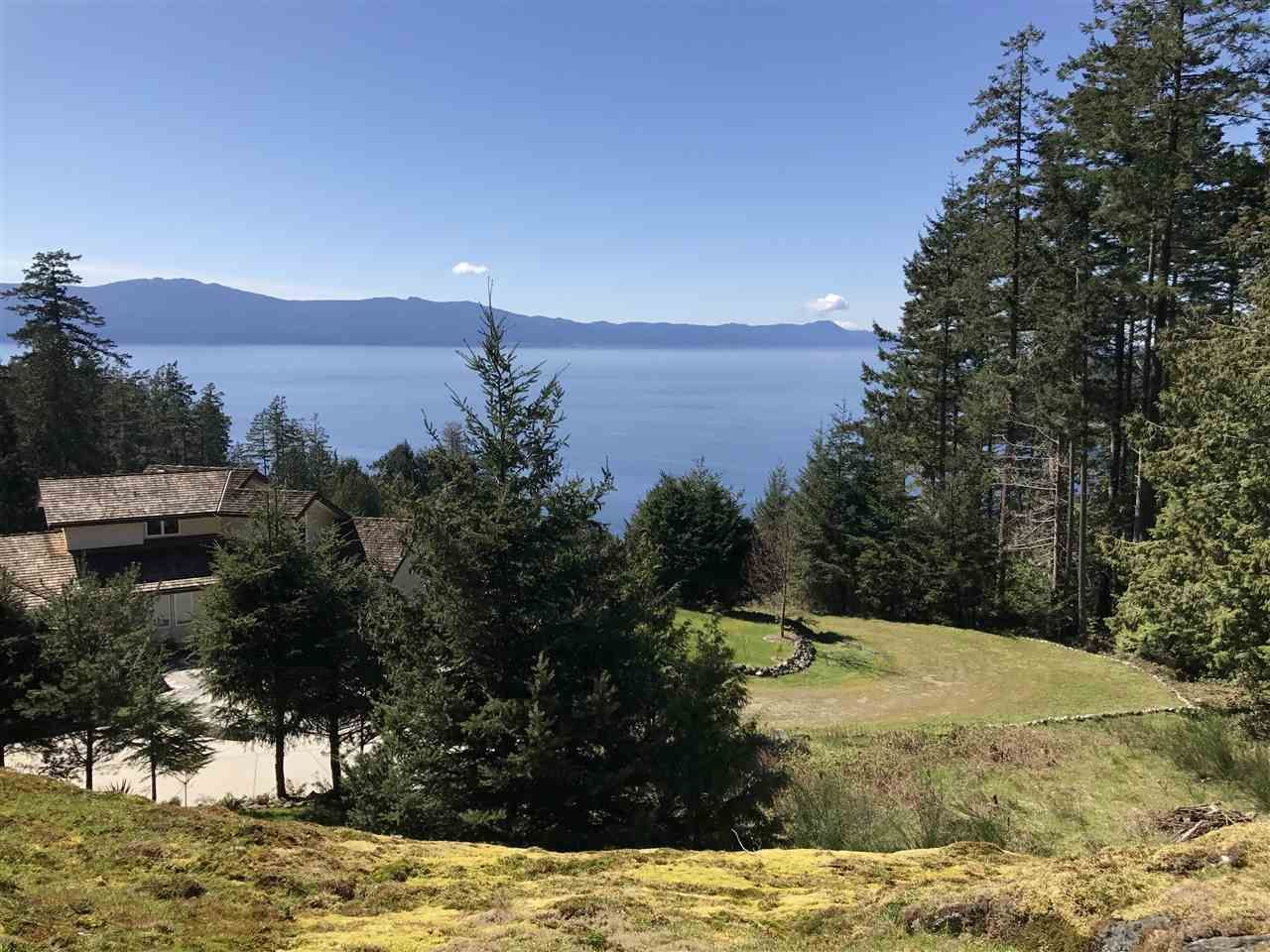 Huge panoramic views overlooking the mouth of Pender Harbour and Texada Island.