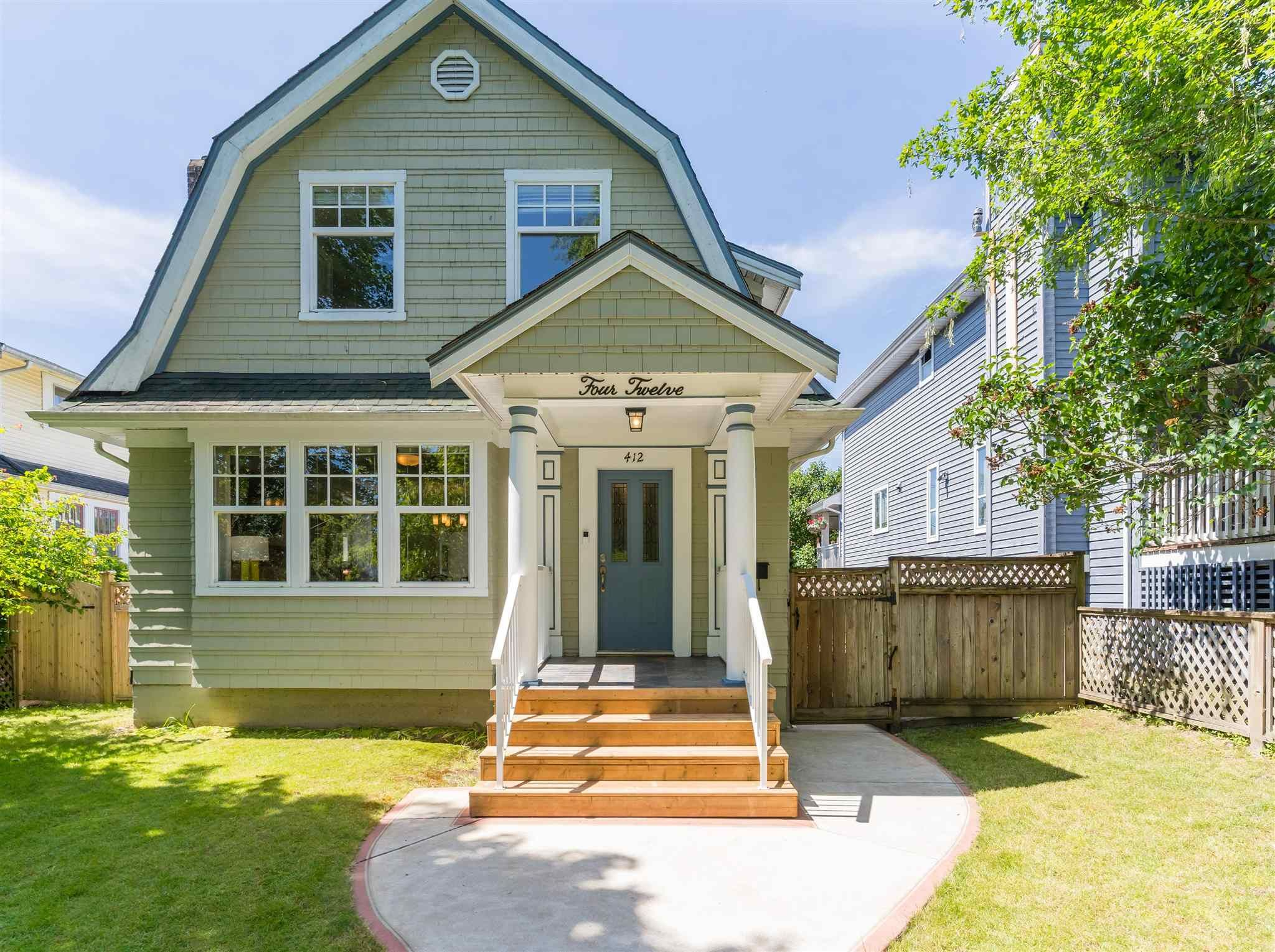 Photo 1: Photos: 412 FIFTH STREET in New Westminster: Queens Park House for sale : MLS®# R2594885