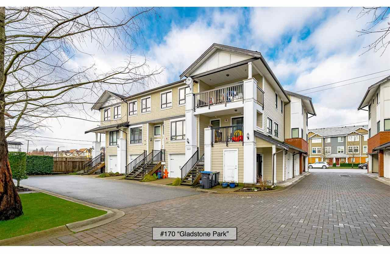 "Main Photo: 170 1130 EWEN Avenue in New Westminster: Queensborough Townhouse for sale in ""Gladstone Park"" : MLS®# R2530035"
