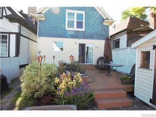 Photo 14: 647 Ashburn Street in Winnipeg: West End / Wolseley Residential for sale (West Winnipeg)  : MLS®# 1615292