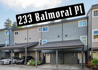 """Photo 1: 233 BALMORAL Place in Port Moody: North Shore Pt Moody Townhouse for sale in """"Balmoral Place"""" : MLS®# R2585129"""