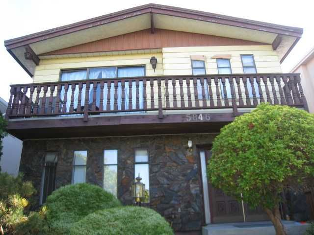 Photo 1: Photos: 5846 DUMFRIES Street in Vancouver: Knight House for sale (Vancouver East)  : MLS®# V852885