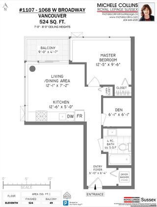 """Photo 26: 1107 1068 W BROADWAY in Vancouver: Fairview VW Condo for sale in """"The Zone"""" (Vancouver West)  : MLS®# R2489887"""