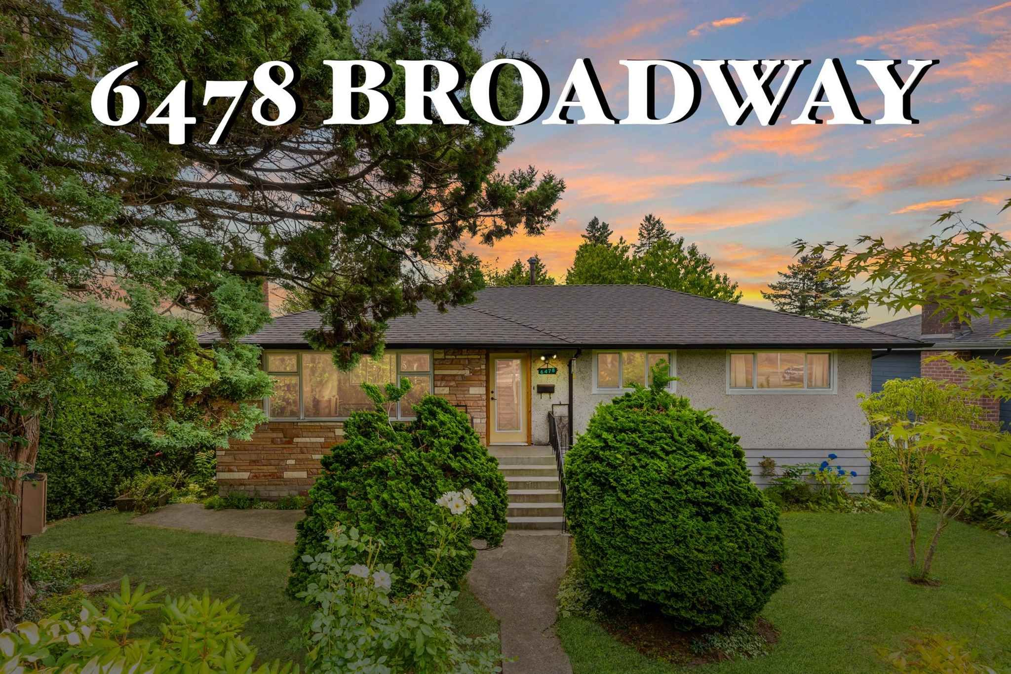 Main Photo: 6478 BROADWAY STREET in Burnaby: Parkcrest House for sale (Burnaby North)  : MLS®# R2601207
