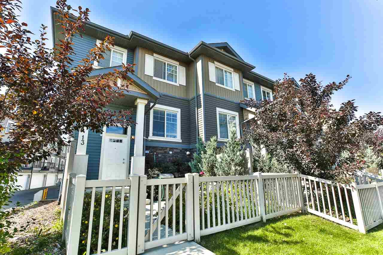 Main Photo: 13 1030 CHAPPELLE Boulevard SW in Edmonton: Zone 55 Townhouse for sale : MLS®# E4234564