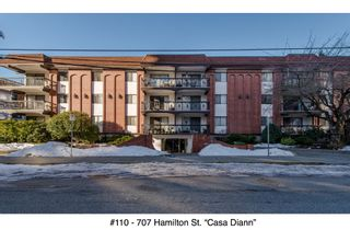 "Photo 1: 110 707 HAMILTON Street in New Westminster: Uptown NW Condo for sale in ""Casa Diann"" : MLS®# R2130307"
