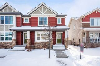 Photo 1: 16013 10 Avenue in Edmonton: Zone 56 House Half Duplex for sale : MLS®# E4228816