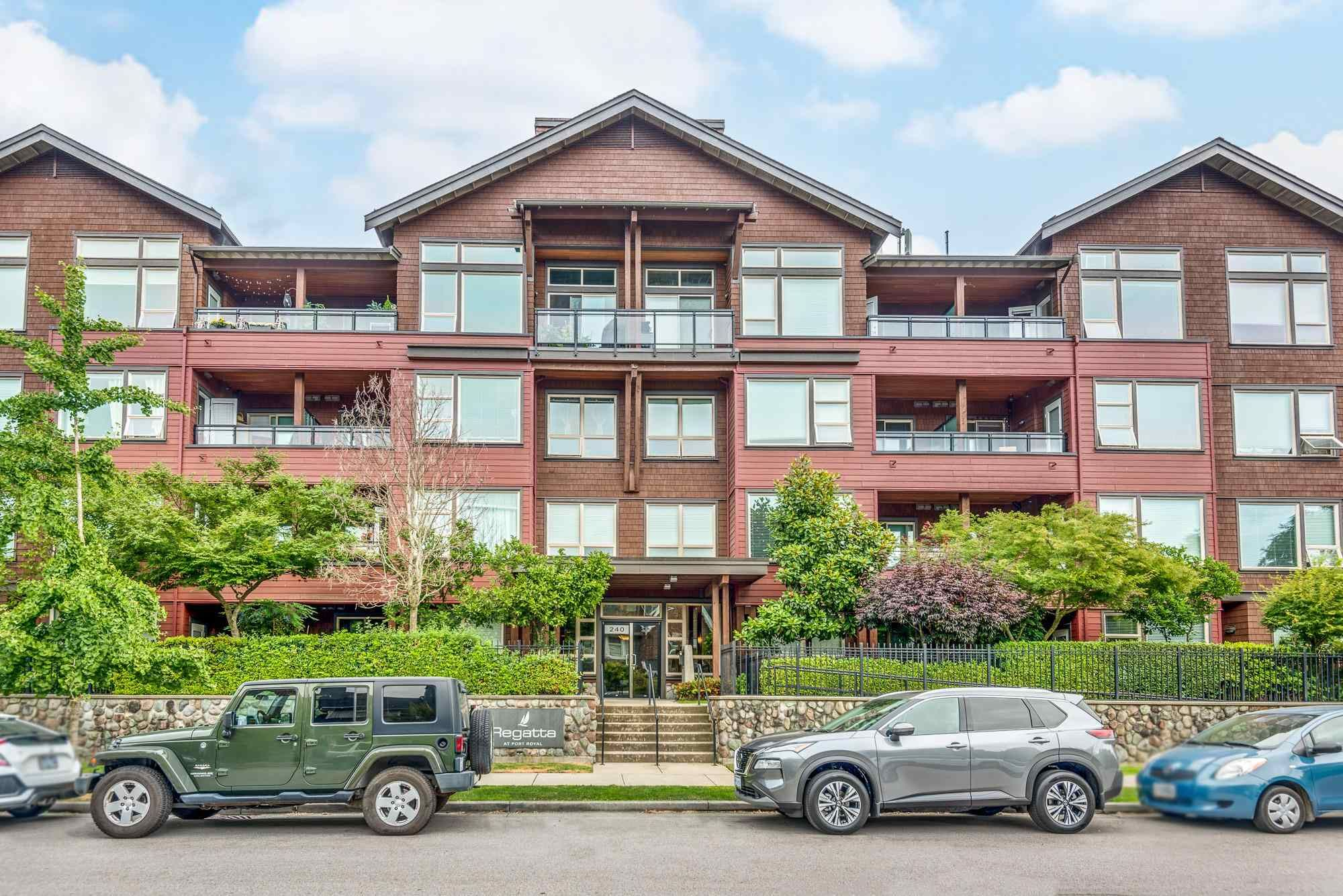 """Main Photo: 206 240 SALTER Street in New Westminster: Queensborough Condo for sale in """"Regatta by Aragon"""" : MLS®# R2602839"""