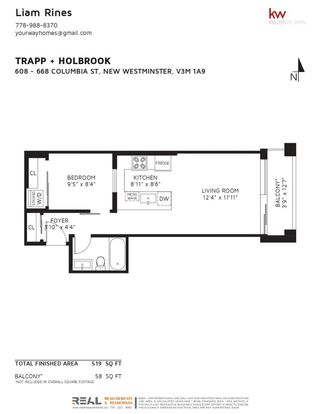 """Photo 27: 608 668 COLUMBIA Street in New Westminster: Quay Condo for sale in """"Trapp & Holbrook"""" : MLS®# R2601244"""