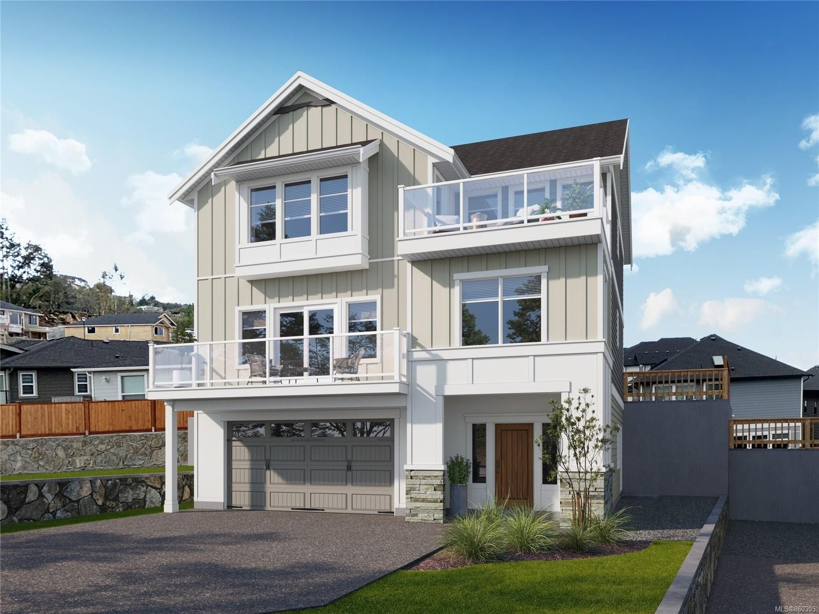 Artist's rendering from similar home plan, actual construction will vary.