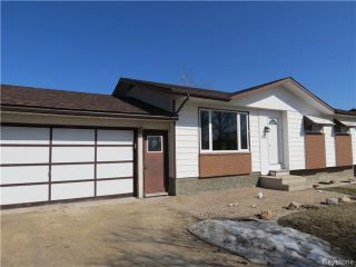 Photo 1: 596 AUBIN Drive in STADOLPHE: Glenlea / Ste. Agathe / St. Adolphe / Grande Pointe / Ile des Chenes / Vermette / Niverville Residential for sale (Winnipeg area)  : MLS®# 1404401