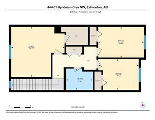 Photo 37: 44 451 HYNDMAN Crescent in Edmonton: Zone 35 Townhouse for sale : MLS®# E4242176