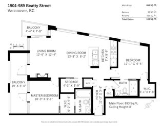 Photo 23: 1904 989 BEATTY STREET in Vancouver: Yaletown Condo for sale (Vancouver West)  : MLS®# R2514238