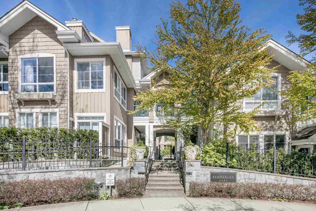 """Main Photo: 109 5605 HAMPTON Place in Vancouver: University VW Condo for sale in """"THE PEMBERLEY"""" (Vancouver West)  : MLS®# R2160612"""