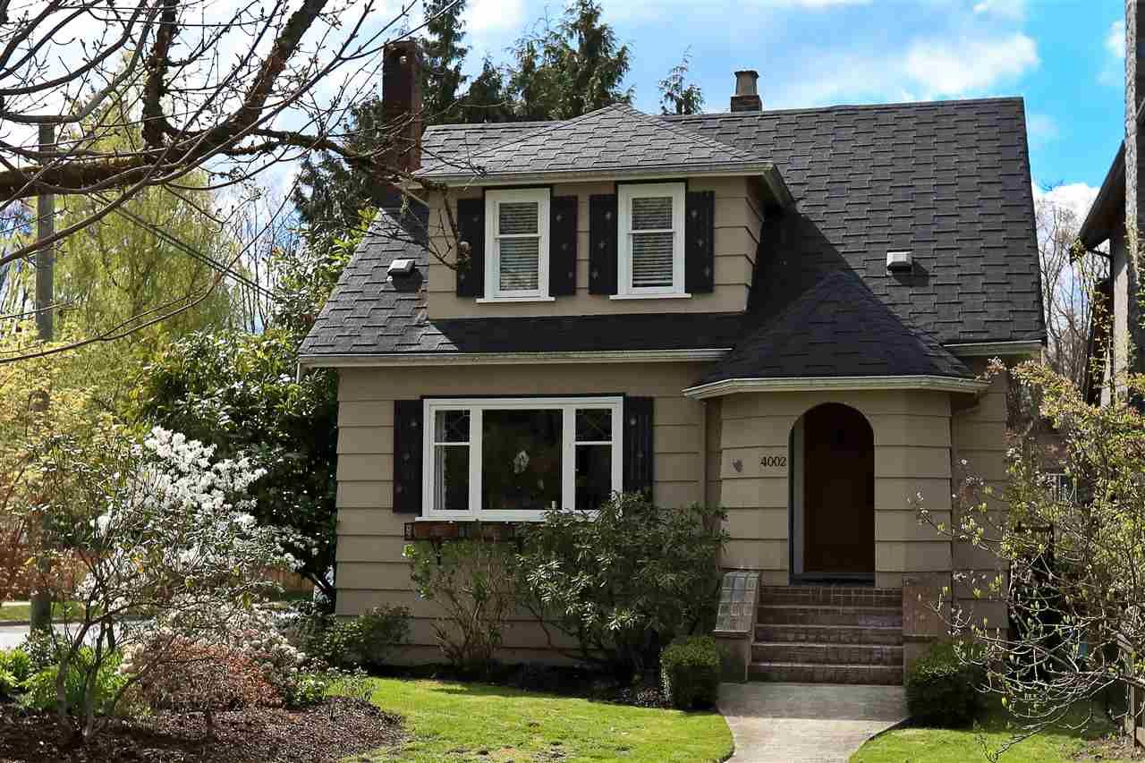 Main Photo: 4002 W 31ST Avenue in Vancouver: Dunbar House for sale (Vancouver West)  : MLS®# R2158177