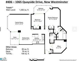Photo 1: 406 1065 Quayside Drive in New Westminister: Quay Condo for sale (New Westminster)  : MLS®# v1122954