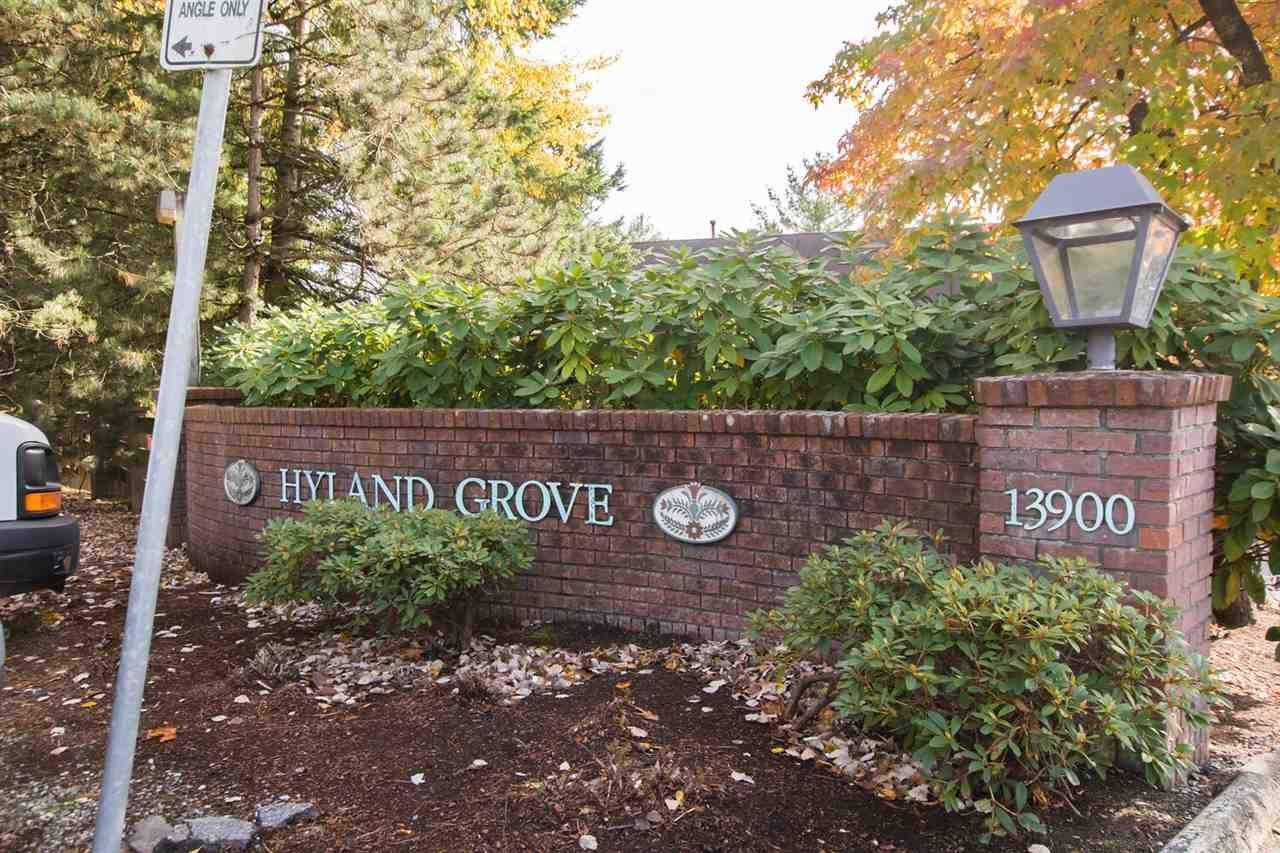 "Main Photo: 119 13900 HYLAND Road in Surrey: East Newton Townhouse for sale in ""Hyland Grove"" : MLS®# R2513810"