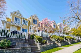 """Photo 1: 8435 JELLICOE Street in Vancouver: South Marine Townhouse for sale in """"Fraserview Terrace"""" (Vancouver East)  : MLS®# R2570044"""