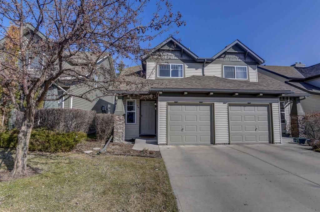 Main Photo: 78 Everstone Boulevard SW in Calgary: Evergreen Row/Townhouse for sale : MLS®# A1090736