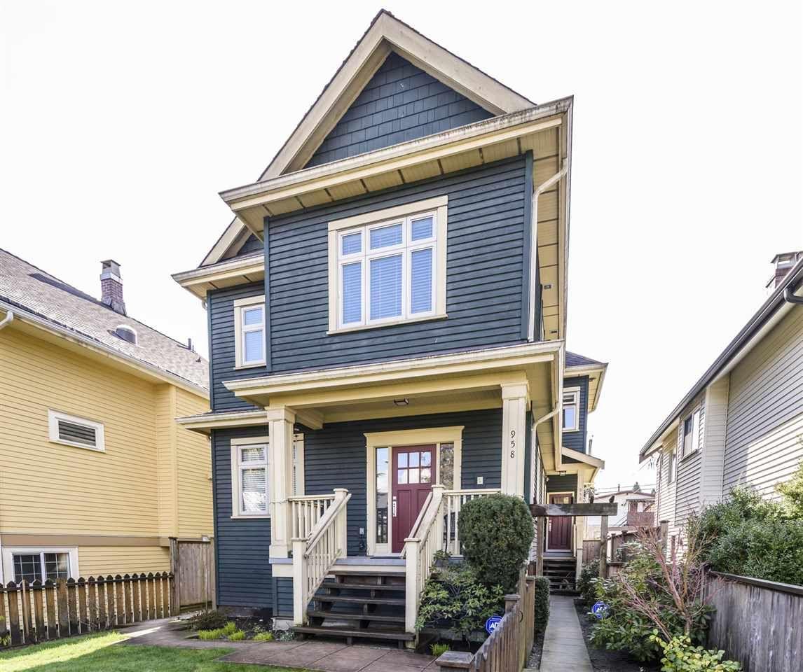 Main Photo: 956 13th Avenue in : Mount Pleasant VE 1/2 Duplex for sale (Vancouver East)  : MLS®# r2442792