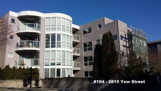 """Photo 1: 104 2815 YEW Street in Vancouver: Kitsilano Condo for sale in """"2815 YEW STREET"""" (Vancouver West)  : MLS®# R2136894"""