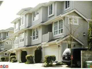 """Photo 1: 22 14952 58 Avenue in Surrey: Sullivan Station Townhouse for sale in """"Highbrae"""" : MLS®# f1006679"""
