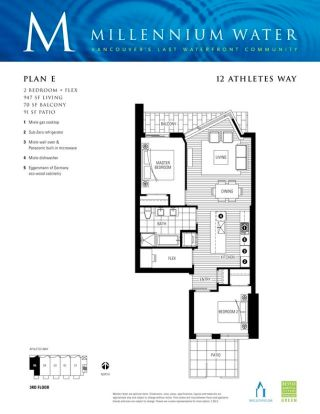 """Photo 12: 305 12 ATHLETES Way in Vancouver: False Creek Condo for sale in """"Kayak"""" (Vancouver West)  : MLS®# R2609035"""