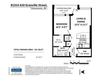 """Photo 18: 1314 610 GRANVILLE Street in Vancouver: Downtown VW Condo for sale in """"The Hudson"""" (Vancouver West)  : MLS®# R2087105"""