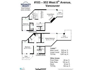 Photo 13: 103 953 W 8th Avenue in Vancovuer: Fairview VW Condo for sale (Vancouver West)  : MLS®# V1094473