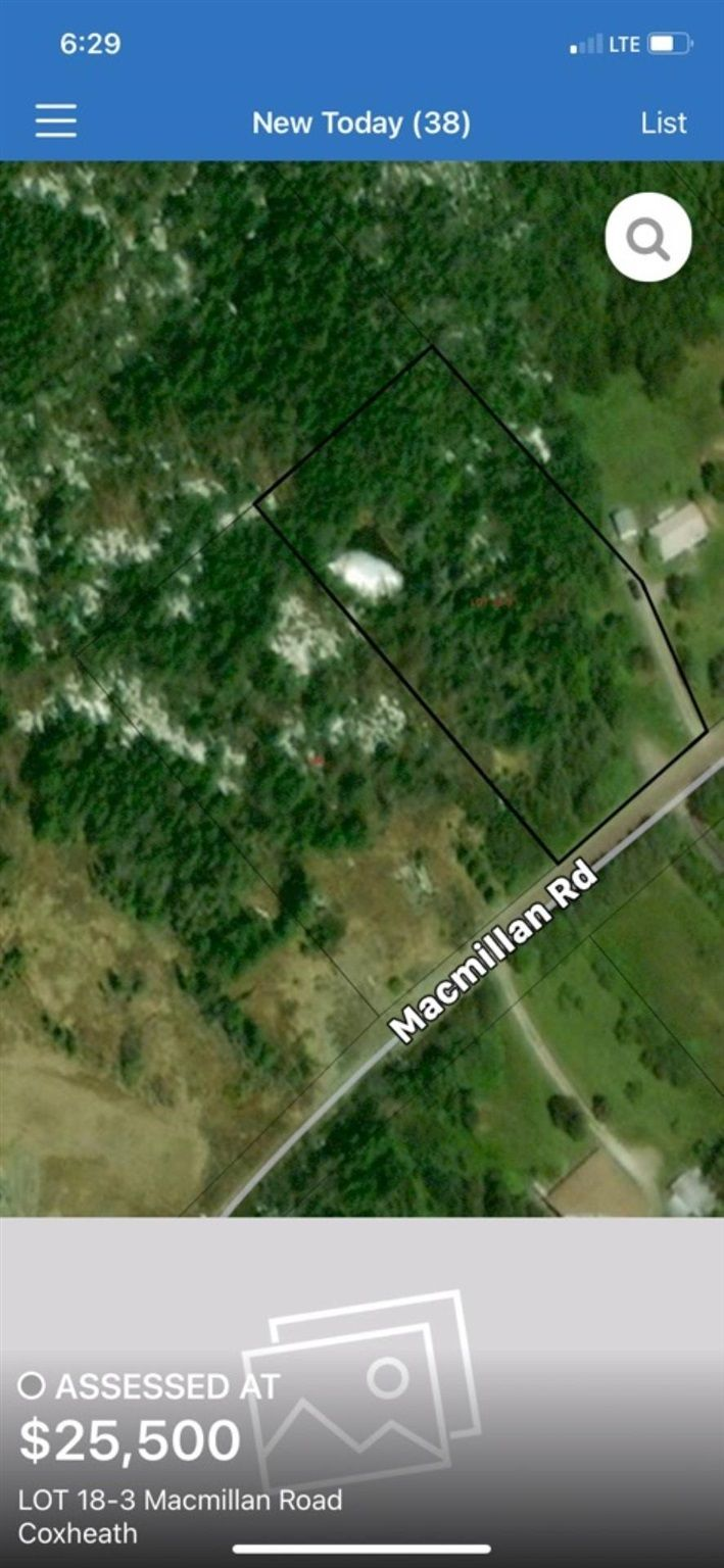 Main Photo: Lot 18-3 MacMillian Road in Coxheath: 202-Sydney River / Coxheath Vacant Land for sale (Cape Breton)  : MLS®# 202116475