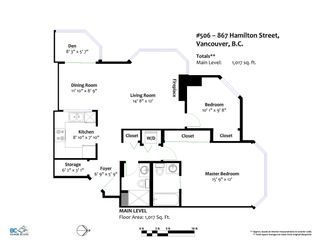 """Photo 18: 506 867 HAMILTON Street in Vancouver: Downtown VW Condo for sale in """"JARDINE'S LOOKOUT"""" (Vancouver West)  : MLS®# R2324358"""