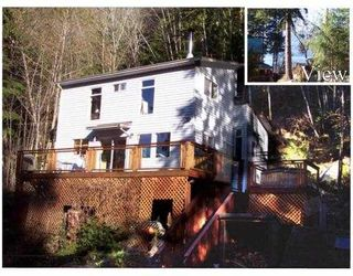 "Photo 1: 7652 SECHELT INLET Road in Sechelt: Sechelt District House for sale in ""TUWANEK"" (Sunshine Coast)  : MLS®# V715033"