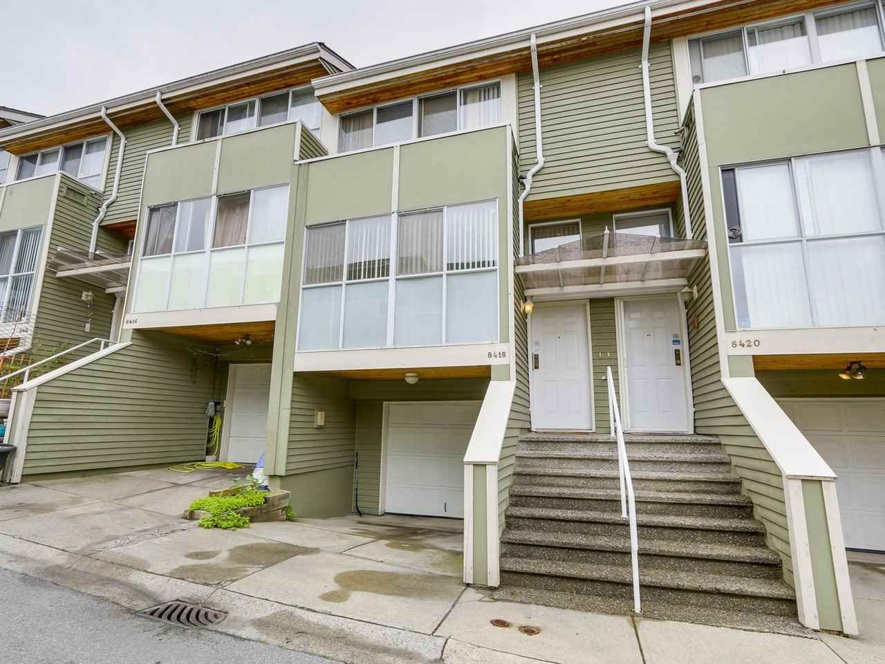 """Main Photo: 8418 CORNERSTONE Street in Vancouver: Champlain Heights Townhouse for sale in """"MARINE WOODS"""" (Vancouver East)  : MLS®# R2209751"""
