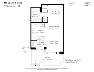 """Photo 20: 160 COOPER'S Mews in Vancouver: Yaletown Townhouse for sale in """"QUAY WEST"""" (Vancouver West)  : MLS®# R2608251"""