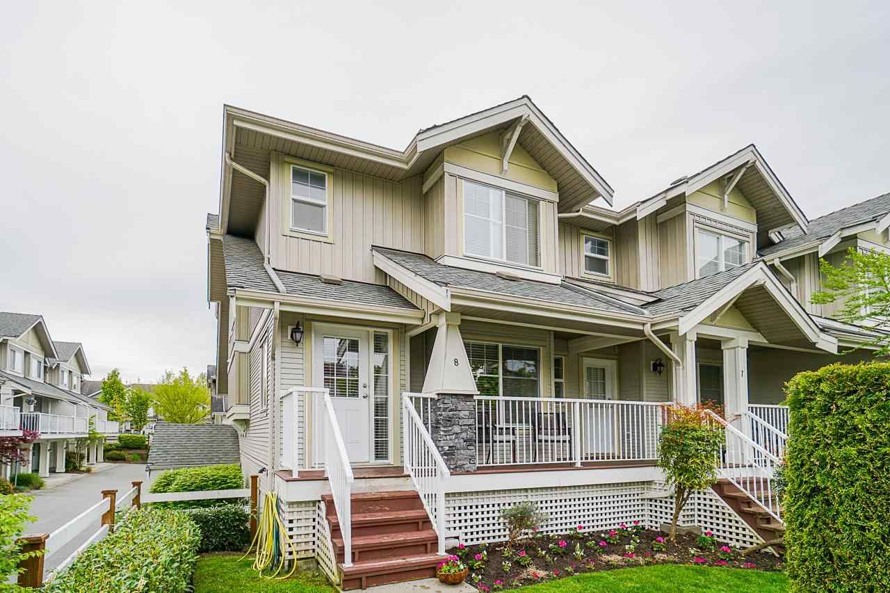 """Main Photo: 8 6568 193B Street in Surrey: Clayton Townhouse for sale in """"Belmont at Southlands"""" (Cloverdale)  : MLS®# R2573529"""