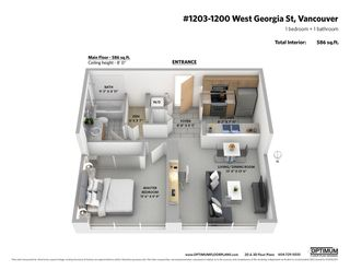 """Photo 2: 1203 1200 W GEORGIA Street in Vancouver: West End VW Condo for sale in """"RESIDENCES ON GEORGIA"""" (Vancouver West)  : MLS®# R2398739"""