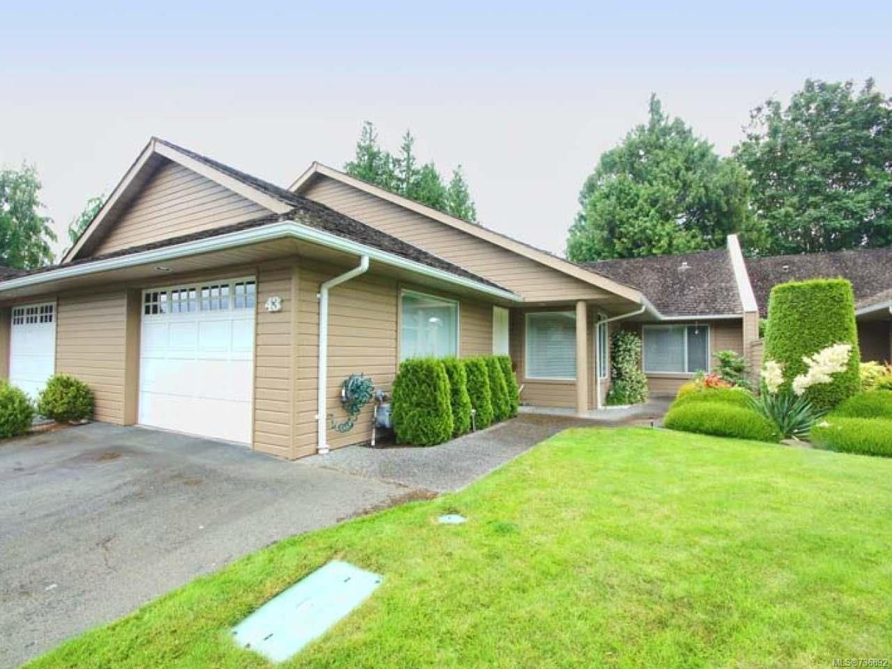 Main Photo: 43 529 JOHNSTONE ROAD in PARKSVILLE: PQ French Creek Row/Townhouse for sale (Parksville/Qualicum)  : MLS®# 736892