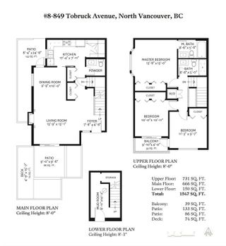Photo 20: 8 849 TOBRUCK AVENUE in North Vancouver: Mosquito Creek Townhouse for sale : MLS®# R2396828