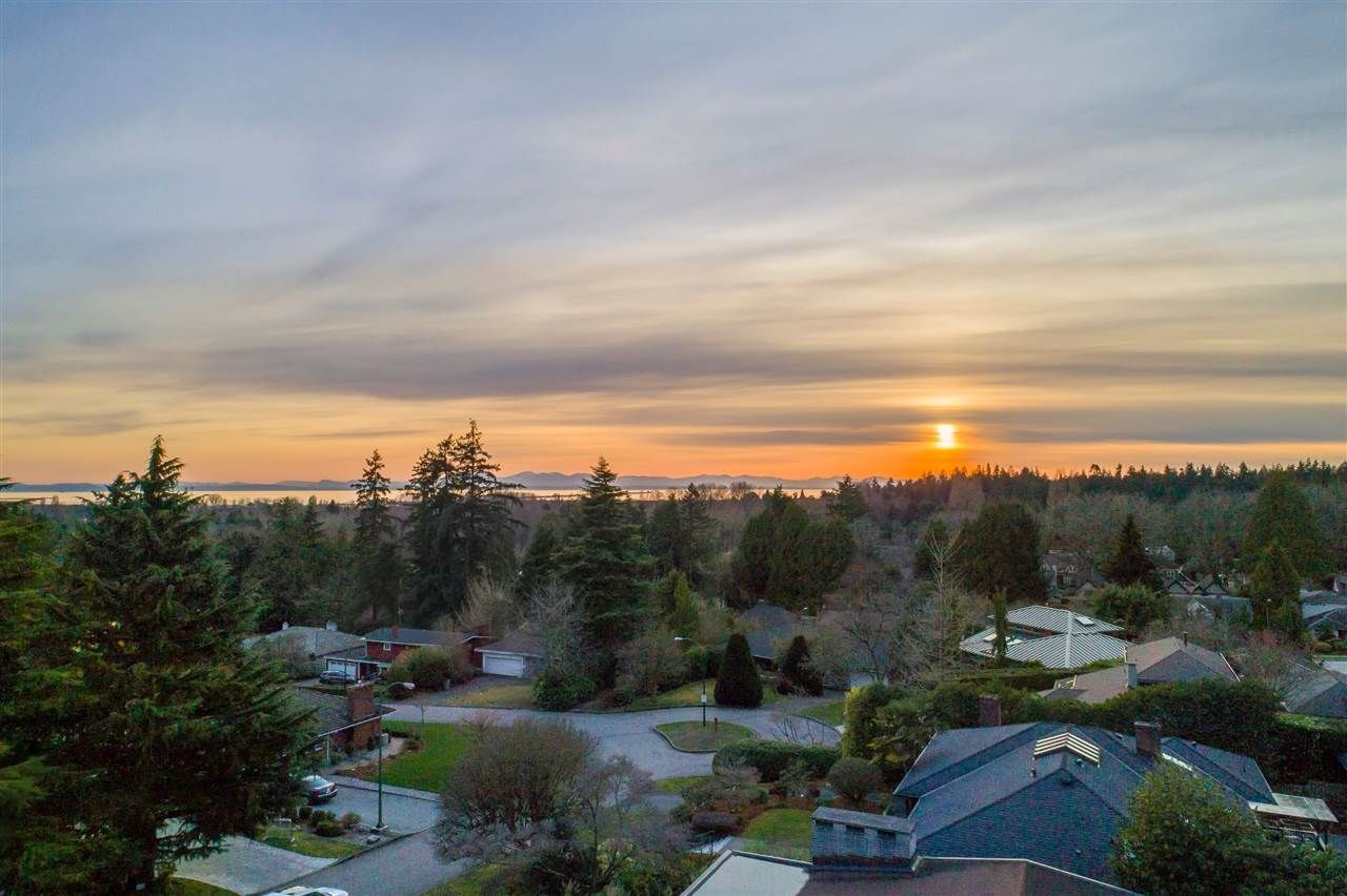 Sunset View from upper floor of new house
