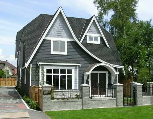 Main Photo: 9339 GENERAL CURRIE RD in Richmond: McLennan North 1/2 Duplex for sale : MLS®# V594904