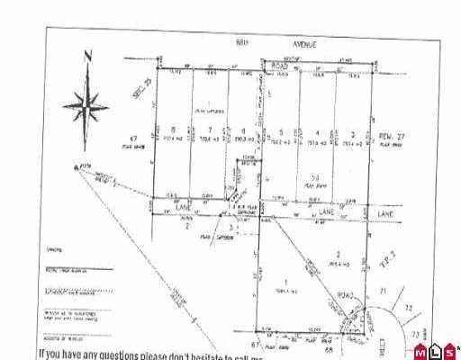 """Main Photo: 16320 88 AV in Surrey: Fleetwood Tynehead Land for sale in """"Fleetwod/Tynehead/Surrey"""" : MLS®# F2519753"""