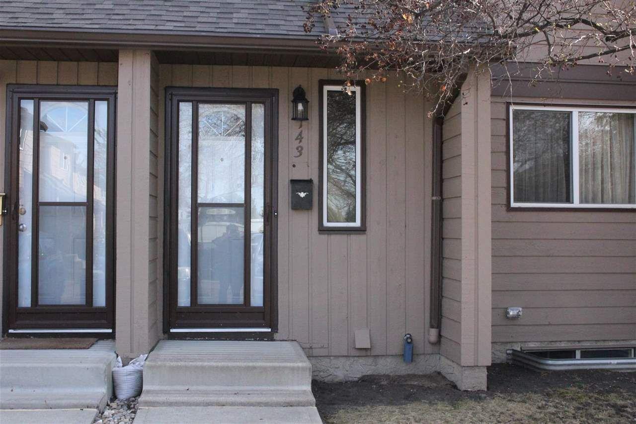 Main Photo: 143 10633 31 Avenue in Edmonton: Zone 16 Townhouse for sale : MLS®# E4242027