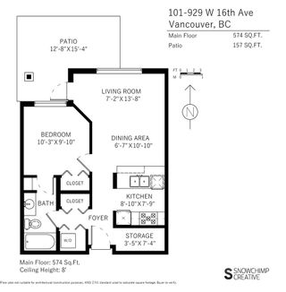 """Photo 20: 101 929 W 16TH Avenue in Vancouver: Fairview VW Condo for sale in """"Oakview Gardens"""" (Vancouver West)  : MLS®# R2146407"""