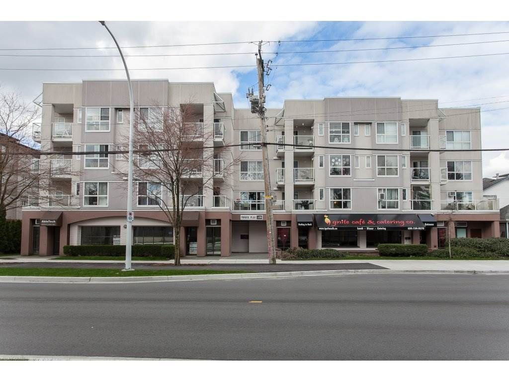 "Main Photo: 206 5499 203 Street in Langley: Langley City Condo for sale in ""Pioneer Place"" : MLS®# R2151805"