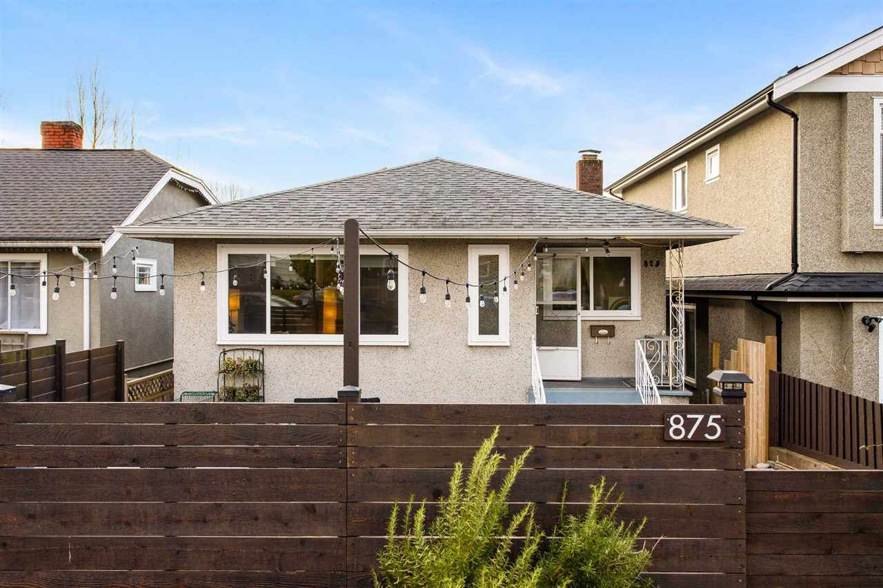 Main Photo: 875 LILLOOET Street in Vancouver: Renfrew VE House for sale (Vancouver East)  : MLS®# R2547503
