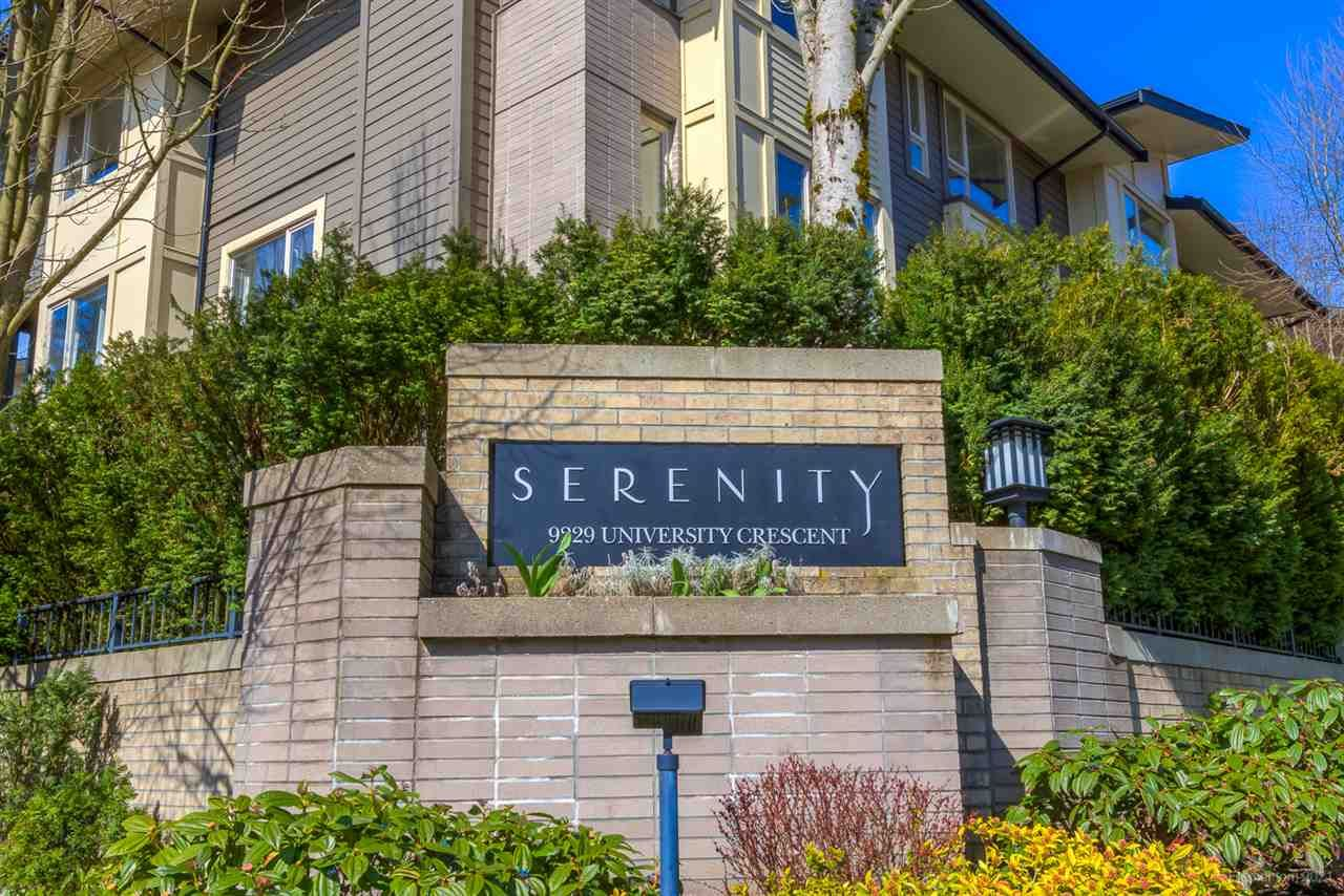 "Main Photo: 122 9229 UNIVERSITY Crescent in Burnaby: Simon Fraser Univer. Townhouse for sale in ""Serenity"" (Burnaby North)  : MLS®# R2560614"