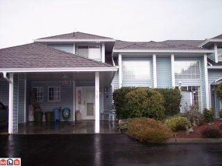 """Photo 1: 86 34959 OLD CLAYBURN Road in Abbotsford: Abbotsford East Townhouse for sale in """"CROWN POINT VILLAS"""" : MLS®# F1101099"""