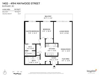 "Photo 18: 1402 4194 MAYWOOD Street in Burnaby: Metrotown Condo for sale in ""PARK AVENUE TOWERS"" (Burnaby South)  : MLS®# R2570187"