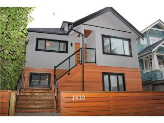 Photo 1: 1630 E 13TH Avenue in Vancouver: Grandview VE House for sale (Vancouver East)  : MLS®# V1032221